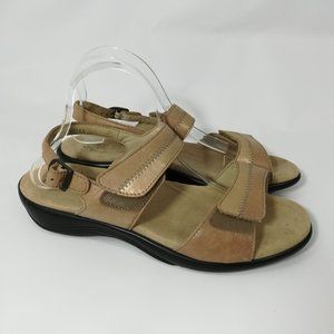 SAS Nudu Dawn Tan Leather Sandals Size 10 M